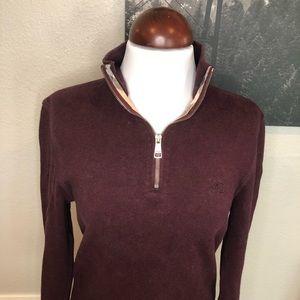 Burberry Brit 1/4 Zip Up Sweater